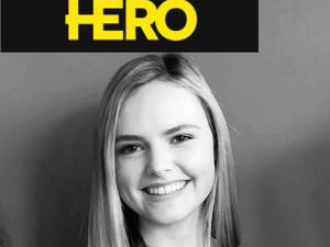 Blog post picture- Orla with HERO logo
